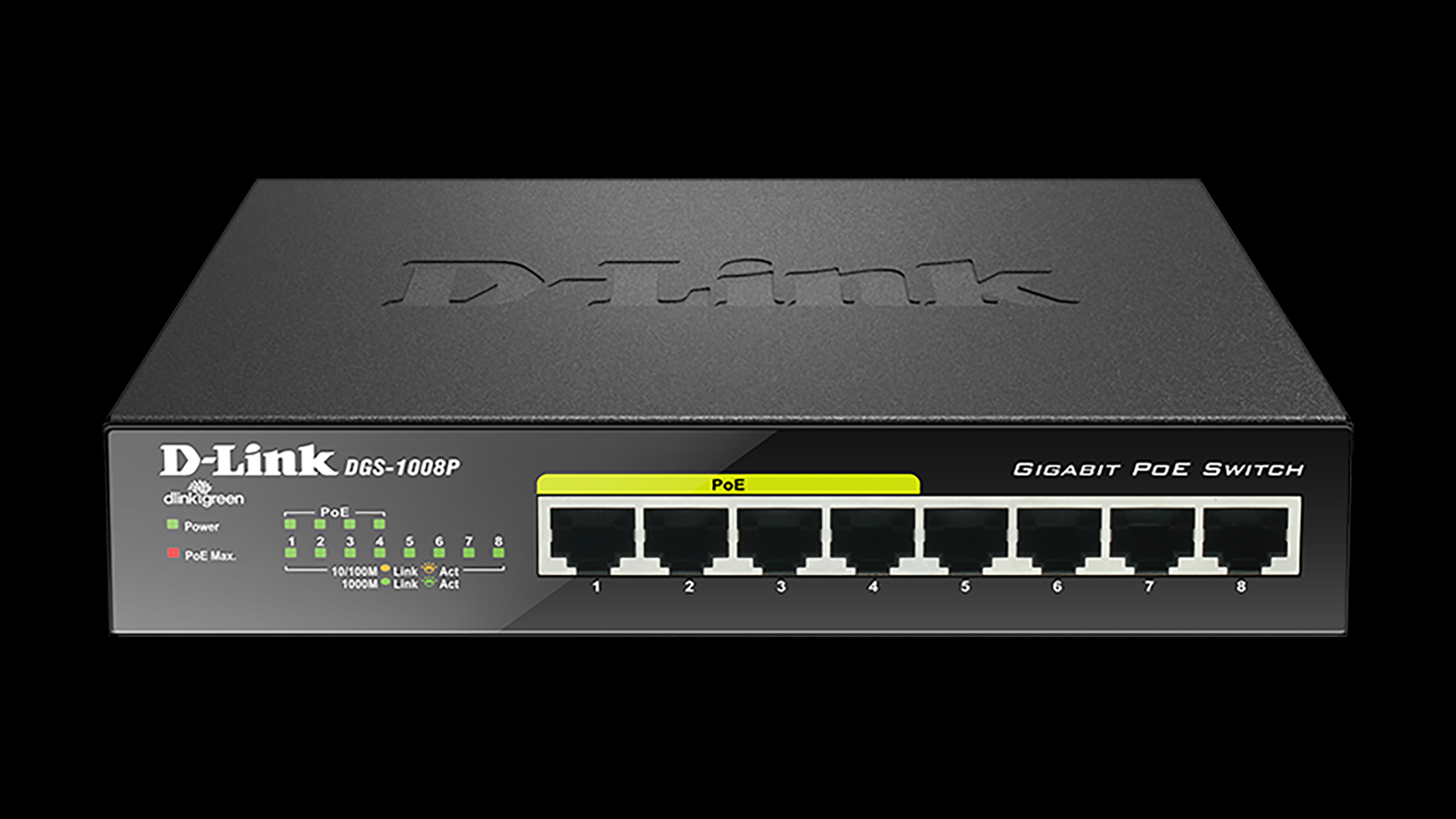 HÁLÓZATI SWITCH DLINK DGS-1008P/E 8PORT